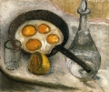 Modersohn-Becker, <i>Still Life with Fried Eggs in the Pan</i>, c. 1905.  <br/>Private collection, Bremen.